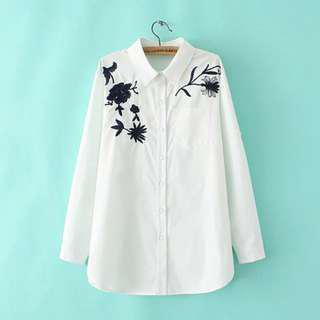 🚚 Plus Size Embroidered blouse dress