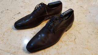Pedro dark brown leather shoe