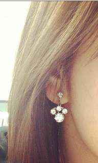 🚚 夾式耳環出清 老水鑽