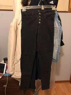 Goldie button fasten space grey jeans