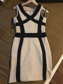 Nude black  bodycon dress