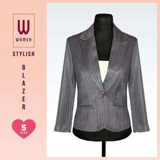 Gray Stripes Formal Blazer
