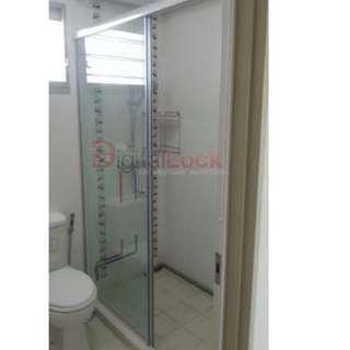 Straight Type Sliding Shower Screen - For HDB/BTO at $480 (Call 88668884)