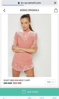 Adidas high neck Tee shirt