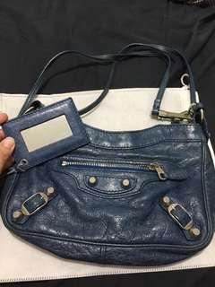 Balenciaga Shoulder Bag dark blue