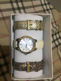 jam tangan guess dengan 3 strap