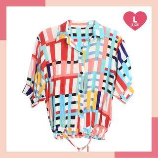 ❤ SALE! Colorful Geometric Design Blouse