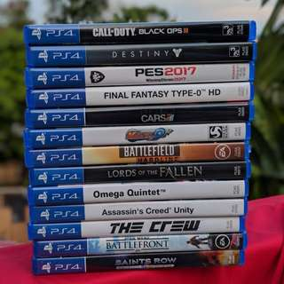 ps4 used games all <50