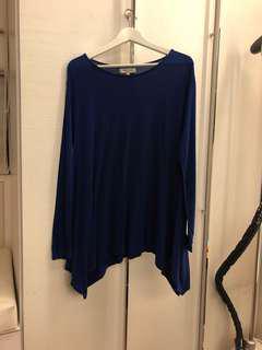 🚚 孕婦專區mamagirl深藍色長袖上衣