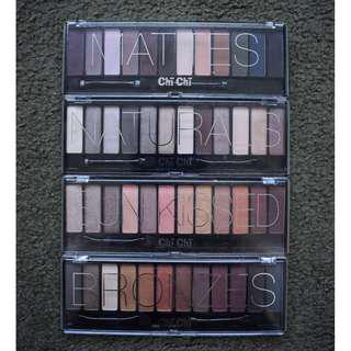 Chi Chi Eyeshadow Palettes - Mattes, Naturals, Sunkissed and Bronzes