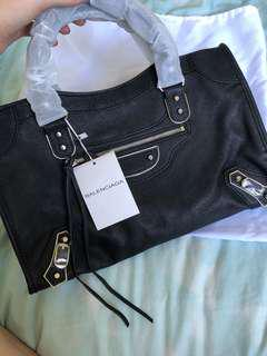 Balenciaga Black City Bag Purse Leather Designer Purse