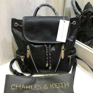Tas Backpack Charles & Keith Decorative