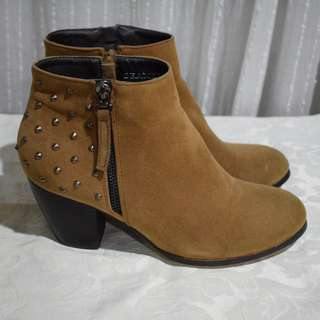 Marco Gianni - BEAMER size 39 - brown studded ankle boots