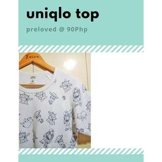 UNIQLO PRINTED BLOUSE/TOP