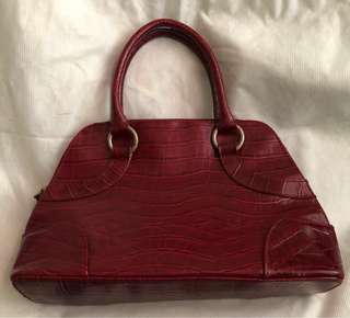 Small red/maroon bag