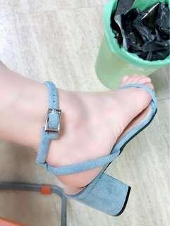 🚚 全新-馬卡龍少女心粉藍涼鞋