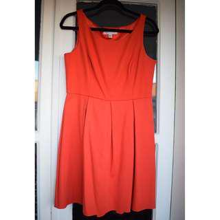 Forever New - size 12 - orange sleeveless dress