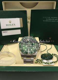 "***SOLD***BNIB Unworn Local Set ♛ Rolex Submariner 116610LV ""Hulk"""