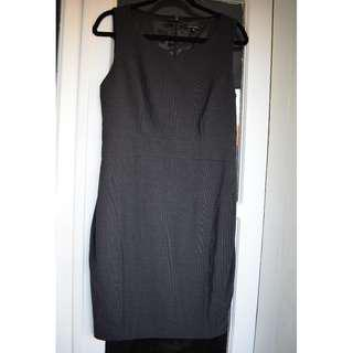 Portmans - size 12 - BRAND NEW sleeveless dark grey work dress