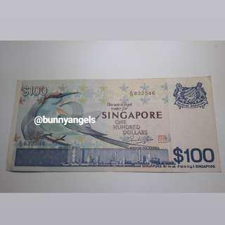 🚚 Authentic Singapore $100 Old Note