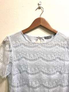 Jigsaw lace blue top 8