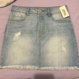 Forever21 Light Wash Denim Skirt