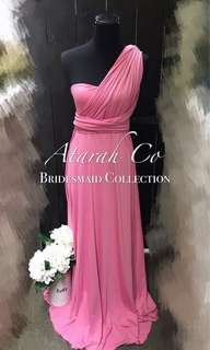 New Infinity Convertible Multiway Rose Pink Bridesmaid Dress