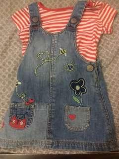 Mothercare Denim Jumper Dress 3-6 months