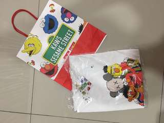 Uniqlo X Kaws X Sesame Street with Paper Bag M size