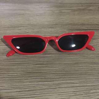 Women's red funky fashion sunglasses
