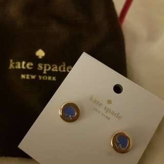 Authentic Kate Spade Spot The Spade Stud Earrings