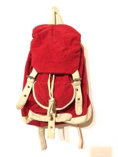 實用鮮紅色後背包