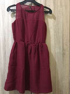 Stradivarius maroon dress