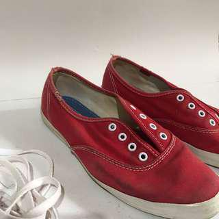 Authentic Keds Canvas Sneakers Red