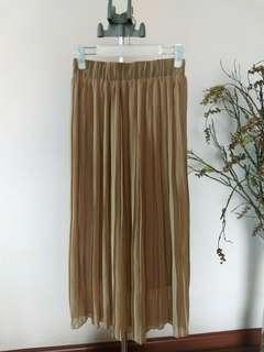 Electric Pleated Chiffon Skirt