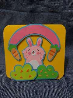 🚚 手作兔子紅蘿蔔卡片