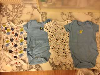 Mothercare Bodysuits 1-3mos