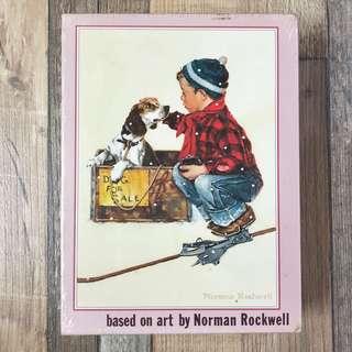 全新拼圖 砌圖 已故著名插畫大師 Norman Rockwell 懷舊美國風 A Boy Meets His Dog 收養小狗 200pc Puzzle 200塊