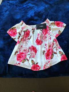 WOMENS OFF THE SHOULDER TOP SIZE 10 BNWT