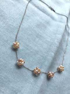 日本的925銀項鍊很淡水珍珠