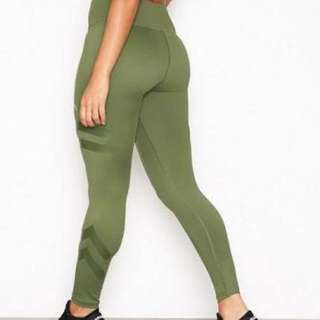 Khaki green tribe gym yoga tights