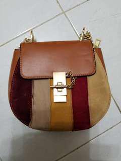 chloe drew style multicolor handbag