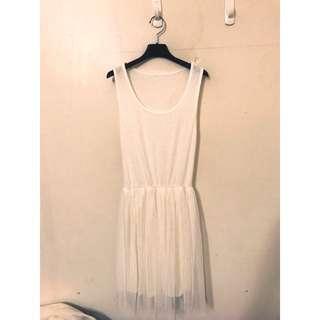 🚚 浪漫紗裙洋裝 超級浪漫顯瘦的唷 SM都可 簡單就是好看唷唷😄彈性非常好