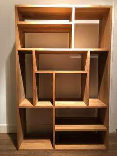 TREE Teak Wood M Multi Rack Display Book Shelf Cabinet