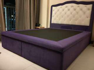 Queen Size Bed Frame with Storage below