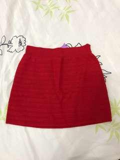 Red short skirt