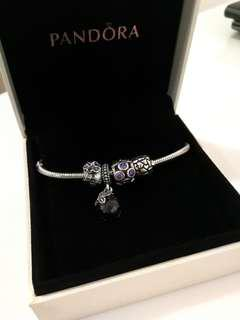 Auth Pandora Bundle Purple & Silver