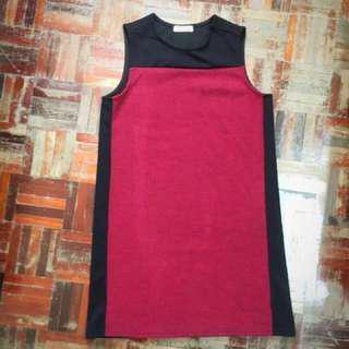 [BUY1FREE1] Padini Formal Maroon Red Dress