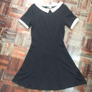 [BUY1FREE1] H&M Divided Black collar skater dress