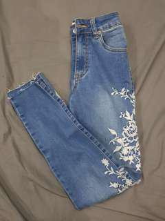 Cotton On Embroidery Jeans